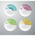 infographics 4 circle options vector image vector image