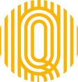 letter line q alphabet design vector image