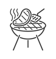 Line style barbecue icon vector image