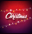 merry christmas with 3d vector image vector image