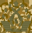 Military Logo Pistol Shooter vector image vector image