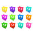 number bullet points colourful steps with numbers vector image vector image