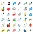 numerator icons set isometric style vector image vector image