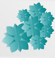 paper flower origami11 vector image vector image