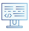 Programming flat icon development blue icons in
