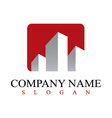 real estate commercial logo vector image vector image