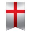 Ribbon banner - english flag vector image vector image