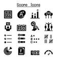 score icon set graphic design vector image