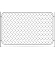 seamless glossy metal chain link fence on white vector image vector image