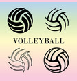 set of volleyball signs vector image vector image