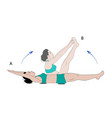 sporty woman making crunches exercise vector image