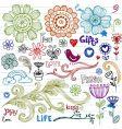 spring doodles vector image