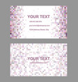 Square mosaic business card template design vector image vector image