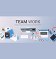 successful teamwork strategy concept top angle vector image vector image