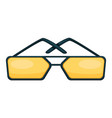 toned glasses square shaped sunglasses trendy vector image