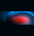 trendy neon blue abstract design with waves