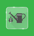 watering can silhouette icon in flat style on vector image