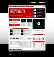 web design website elements red a set vector image