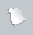Map of New Brunswick vector image