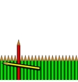 pencils and one red vector image