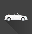 flat cabriolet roadster car body style icon vector image