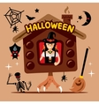 Halloween Witch Hut Cartoon vector image