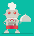 robot chef flat vector image