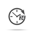 24 hour assistance clock icon vector image
