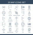 25 map icons vector image vector image
