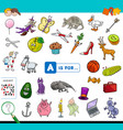 a is for educational game for children vector image