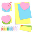 a set of colored office sticky sheets of vector image vector image
