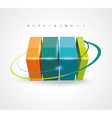 Abstract 3D glossy icon vector image