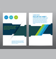 abstract blue green presentation book cover vector image