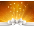 Abstract magic gold light background with white vector image vector image