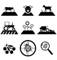 agricultural set vector image vector image