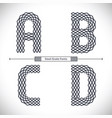 alphabet steel grate style in a set abcd vector image vector image
