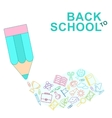 back to school lines vector image vector image