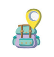 backpack travel with location symbol design vector image vector image