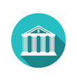 bank building in style a classical greek vector image