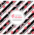 black stripe valentine background vector image vector image