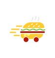 burger delivery service logo template vector image