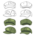 Cap band outlined template vector image