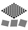 checkered objects checkered boards vector image