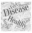Controlling Disease in Healthy Aging Word Cloud vector image vector image