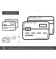 Credit cards line icon vector image vector image