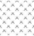crossed japanese daggers pattern vector image vector image