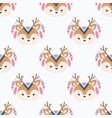 cute cartoon seamless pattern vector image vector image