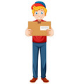delivery man wearing uniform vector image