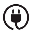 electric plug socket icon simple flat concept vector image vector image
