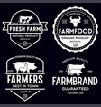 farmers market logo templates stamps labels badges vector image vector image